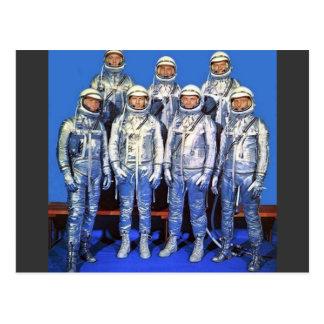 Carte Postale mercure 7 astronautes