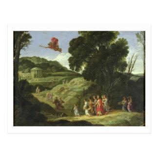 Carte Postale Mercury et Herse, c.1605-08 (huile sur la toile)