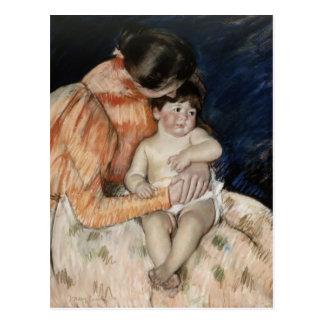 Carte Postale Mère et enfant, 1890s