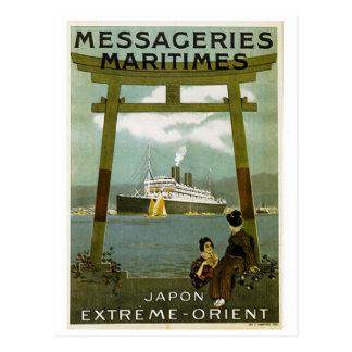 Carte Postale Messageries Maritimes Japon l'Orient extrême