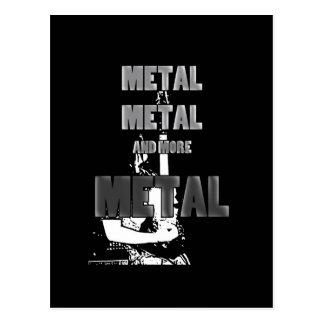 Carte Postale Métal, métal et plus de métal