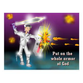 Carte Postale Mettez dessus l'armure entière de Dieu