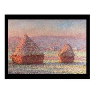Carte Postale Meules de foin Monet
