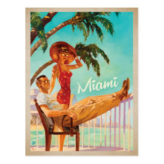 Carte Postale Miami, FL - couple