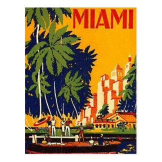 Carte Postale Miami vintage, la Floride, Etats-Unis -