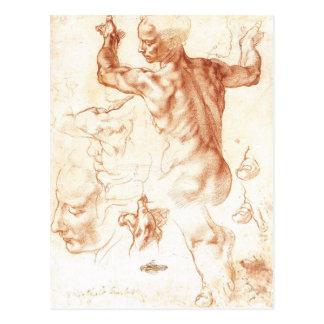 Carte Postale Michaël Angelo - peinture libyenne de sibylle