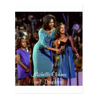 Carte Postale Michelle Obama et filles