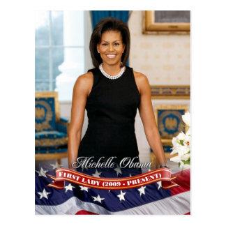 Carte Postale Michelle Obama, première Madame des États-Unis