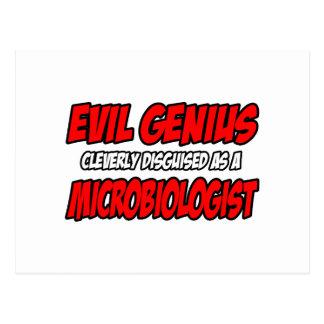 Carte Postale Microbiologiste mauvais de génie…