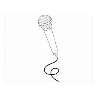 Carte Postale Microphone avec le fil