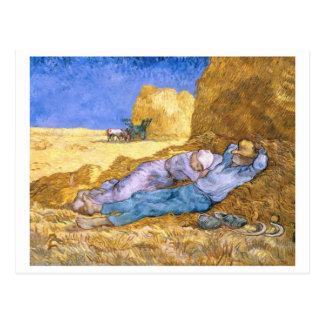 Carte Postale Midi de Vincent van Gogh |, la sièste, après