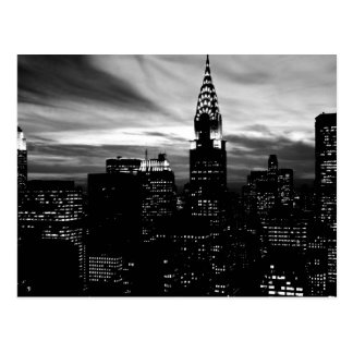Carte Postale Midtown noir et blanc de New York City