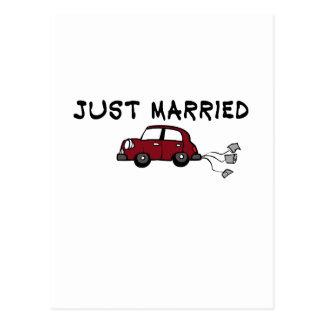 "Carte Postale Mignon, ""a juste marié"" la conception"