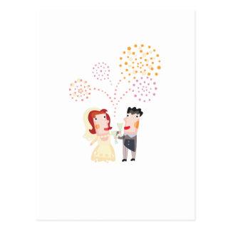 """Carte Postale Mignon, conception de bande dessinée """"épousant"""
