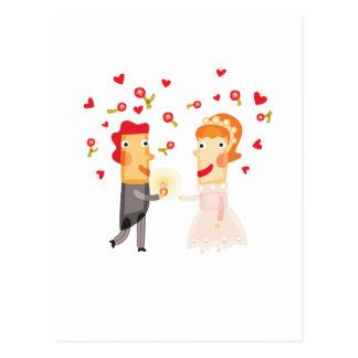 """Carte Postale Mignon, conception """"de couples de jour du mariage"""""""