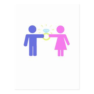 """Carte Postale Mignon, conception """"épousant couples"""""""