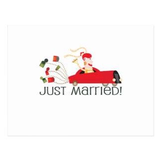 """Carte Postale Mignon, juste marié, """"épousant"""" la conception"""