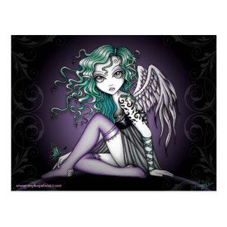 Carte postale mignonne d'ange de tatouage de