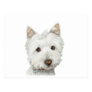Carte postale mignonne de chien de Westie