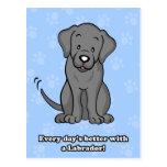 Carte postale mignonne de Labrador de chien de ban