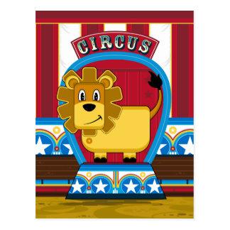 Carte postale mignonne de lion de cirque