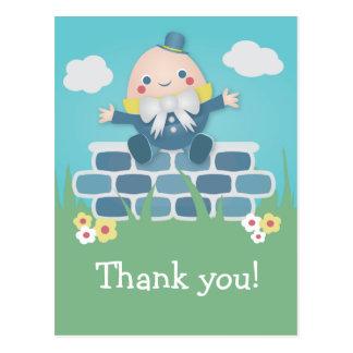 Carte postale mignonne de Merci de baby shower de