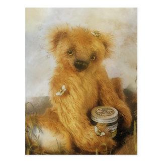 Carte postale mignonne de nounours d'ours de miel
