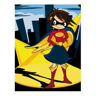Carte postale mignonne de super héros
