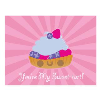 Carte postale mignonne de tarte de Kawaii