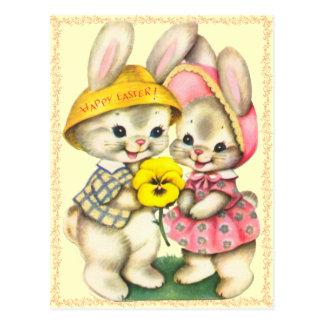 Carte postale mignonne d'enfants de lapins de