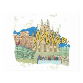 Carte Postale Milan