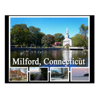 Carte Postale Milford le Connecticut Multiview