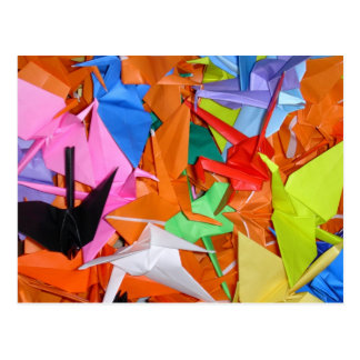 Carte Postale Mille grues de papier - Senbazuru - obtiennent