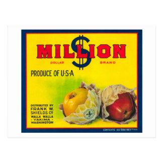 Carte Postale Million de dollar Apple marquent - Walla Walla, WA