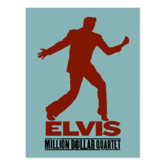 Carte Postale Million de quartet Elvis du dollar