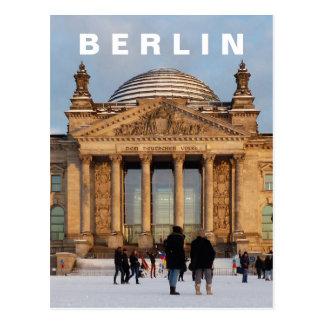 Carte Postale Milou Reichstag 01,4, BERLIN (Reichstag im Schnee)