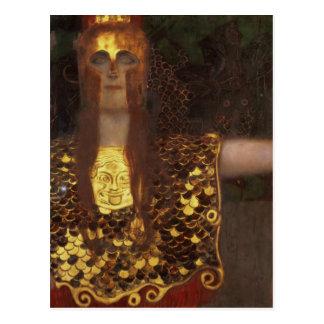 Carte Postale Minerva ou Pallas Athéna