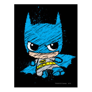 Carte Postale Mini croquis de Batman