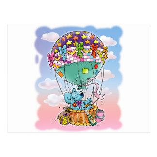 Carte Postale Mini souris et grand ballon