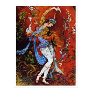Carte postale miniature persane de peinture