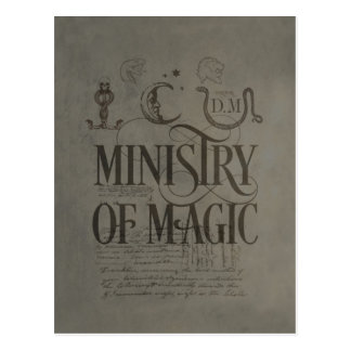Carte Postale MINISTÈRE du charme | de Harry Potter de MAGIE