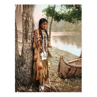 Carte Postale Minnehaha 1897 Natifs américains vintages Hiawatha