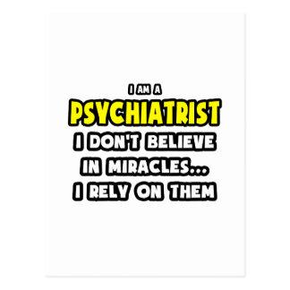 Carte Postale Miracles et psychiatres… drôles