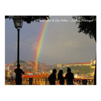 Carte Postale Mirador de Sont Pedro - Lisbonne, le Portugal