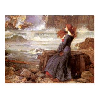 Carte Postale Miranda - la tempête