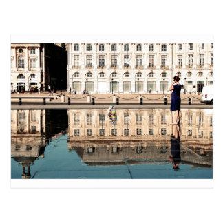 Carte Postale Miroir de l'eau en Bordeaux