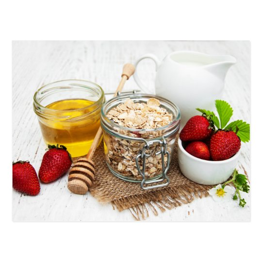 Carte Postale Miscellaneous - Muesli With Berries Six
