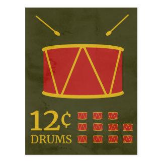 Carte Postale Mise en tambour de douze batteurs