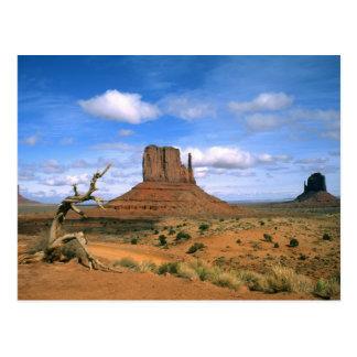 Carte Postale Mitaines colorées de vallée de monument en Utah