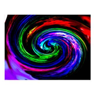 Carte postale «mixeur» multicolore abstraitement
